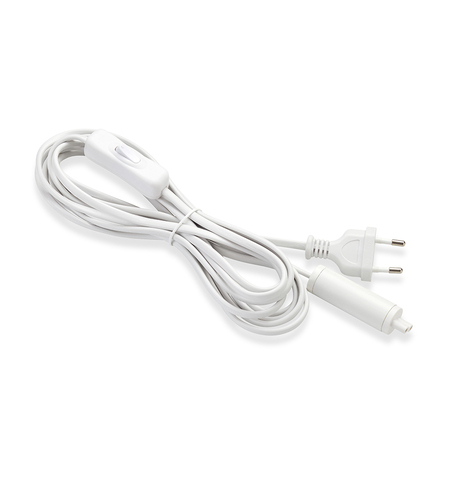 Extindeți cablul de pornire 3,5 m pletă + comutator alb