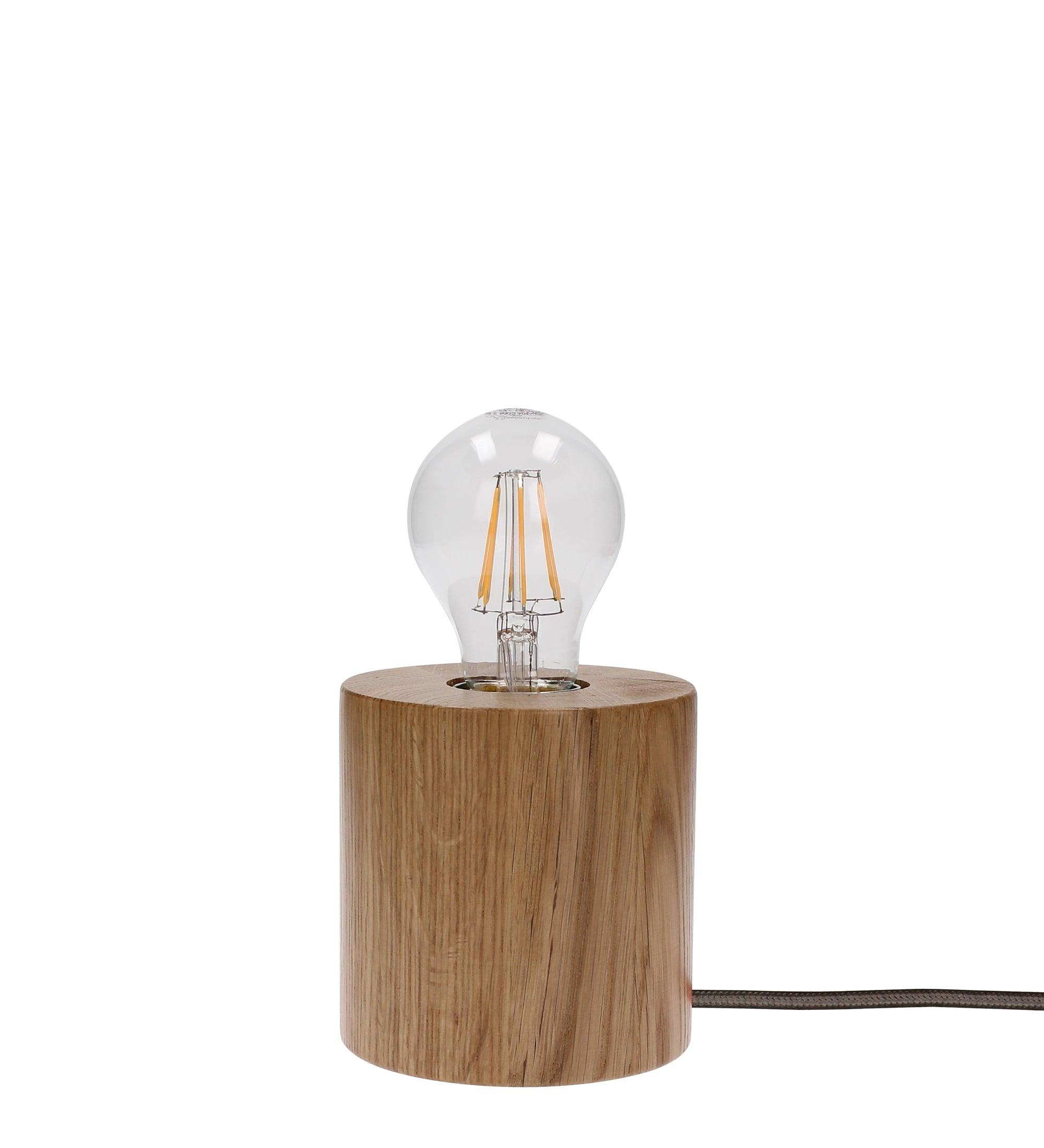 Lampa de masă stejar Trongo / antracit E27 60W