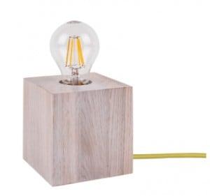 Lampa de masă stejar decolorat Trongo diferite culori ale cablului E27 60W small 4