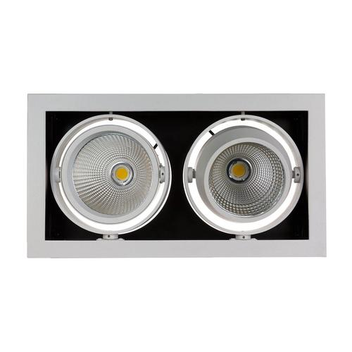Modern Day 2 Cob 45 St 230 V 2 X15 W Ip20 Ww Downlight Silver