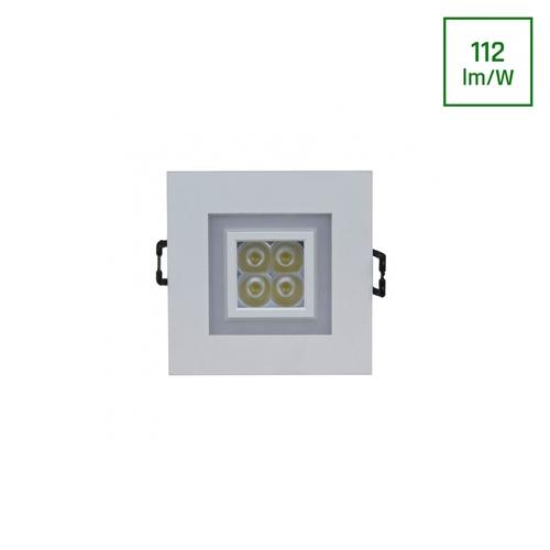 Fiale 4 Led 4 X1 W 30 St 230 V Pătrat cu cadru alb Cw Leds