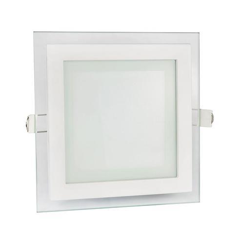 Firuri Eco Led Square 230 V 6 W Ip20 Ww Plafon cu ochi de sticlă