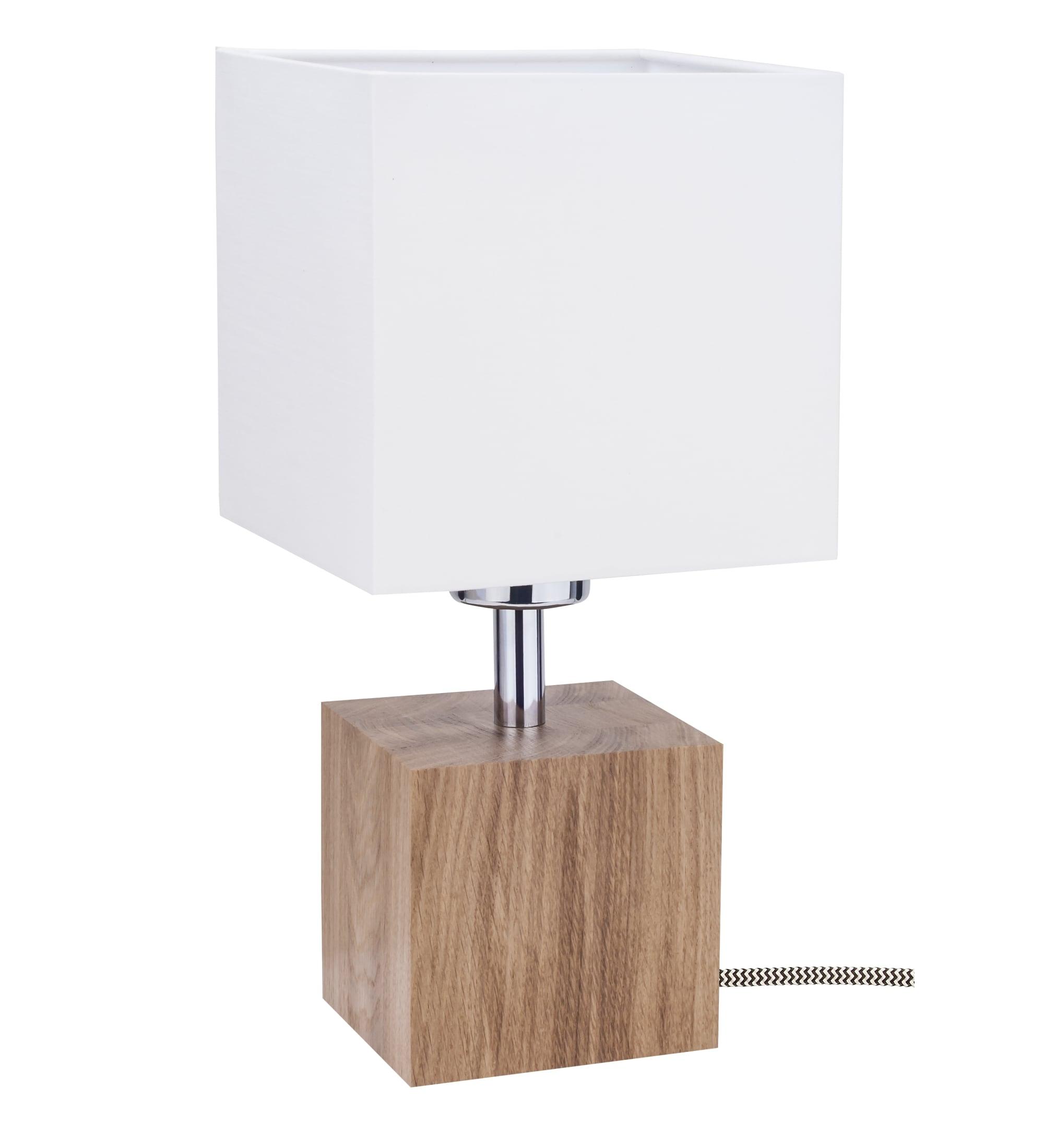 Lampa de masă Trongo dąb / czarno-biały / alb E27 60W