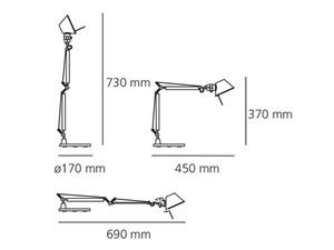 Lampa de masă Artemide Tolomeo Micro negru small 1