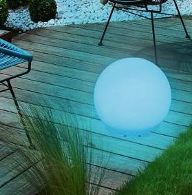 Bilă solară de grădină și culoare LED de 34cm USB, impermeabilă small 1