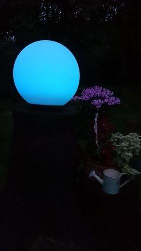 Bilă solară de grădină și culoare LED de 34cm USB, impermeabilă