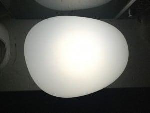 Lampa solară - Sferă aplatizată ouă de piatră LED RGB colorat small 2