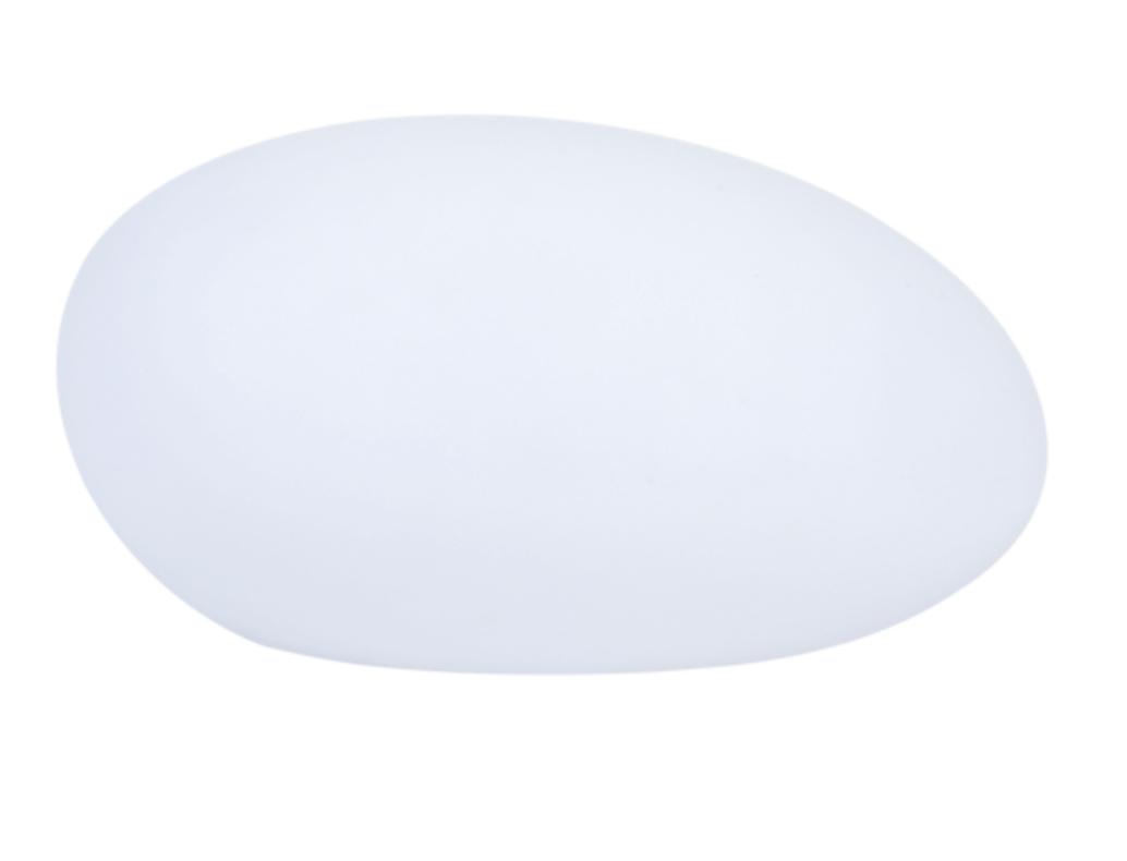 Lampa solară - Sferă aplatizată ouă de piatră LED RGB colorat