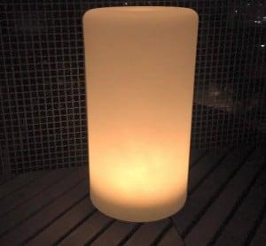 Lampa LED cu coloană impermeabilă cu funcție multicoloră pentru grădină (45 cm) small 1