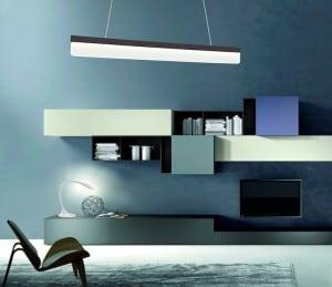 Lampa suspendată modernă Negru Milagro BEAM 400 18W 1260 lm small 1