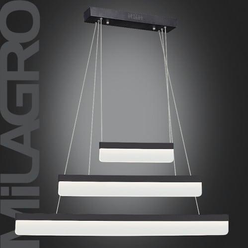 Lampa suspendată modernă cu nisip și negru BEAM 403 LED 36W 2520 lm