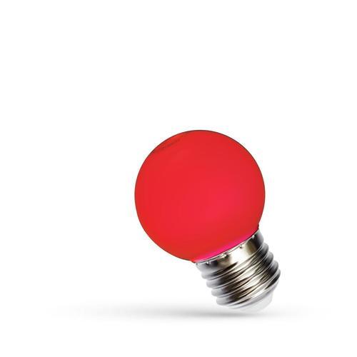 Bilă led E27 230 V 1 W Spectru roșu