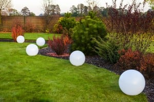 Bile luminoase de grădină cu diametrul de 46 cm, 230V 23W small 1