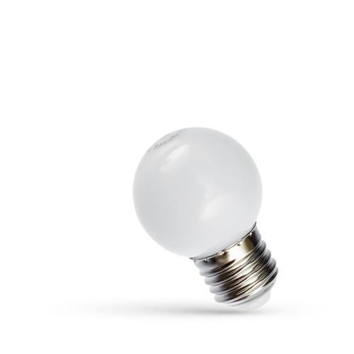 Bilă cu led E27 230 V 1 W Spectru alb