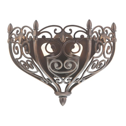Lampa de perete Magdalena Country 2 Brown - 389021402