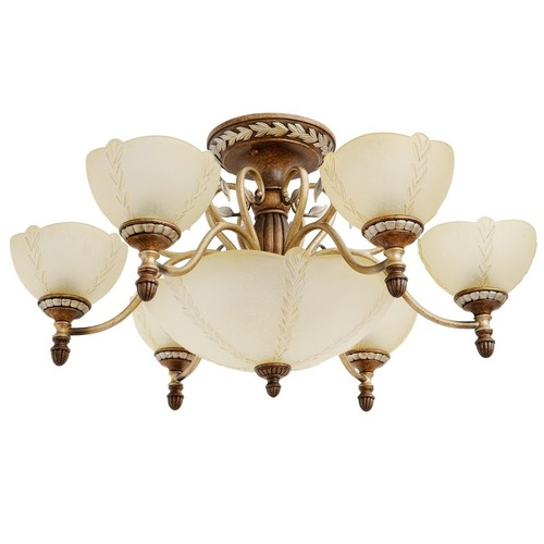Lampa suspendată Bologna Country 9 Brown - 254012909
