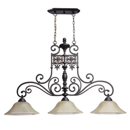 Lampa suspendată Magdalena Country 3 Brown - 382011503
