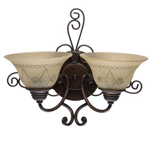 Lampa de perete Magdalena Country 2 Brown - 382022902