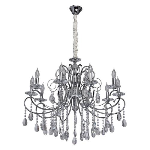 Lampa suspendată Adele Crystal 10 Chrome - 373013410