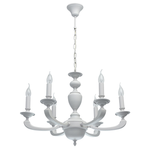 Lampa suspendată DelRey Classic 6 White - 700011606 small 0
