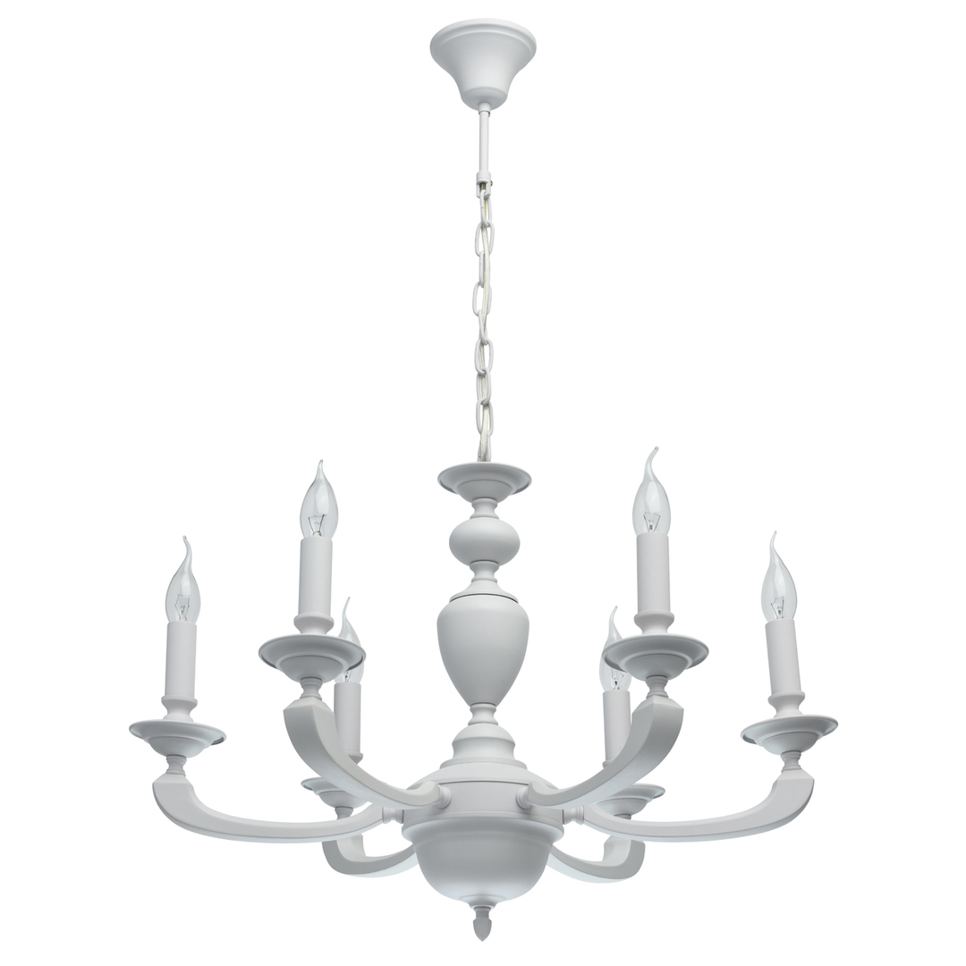 Lampa suspendată DelRey Classic 6 White - 700011606