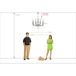 Lampa suspendată DelRey Classic 8 White - 700011708 small 5