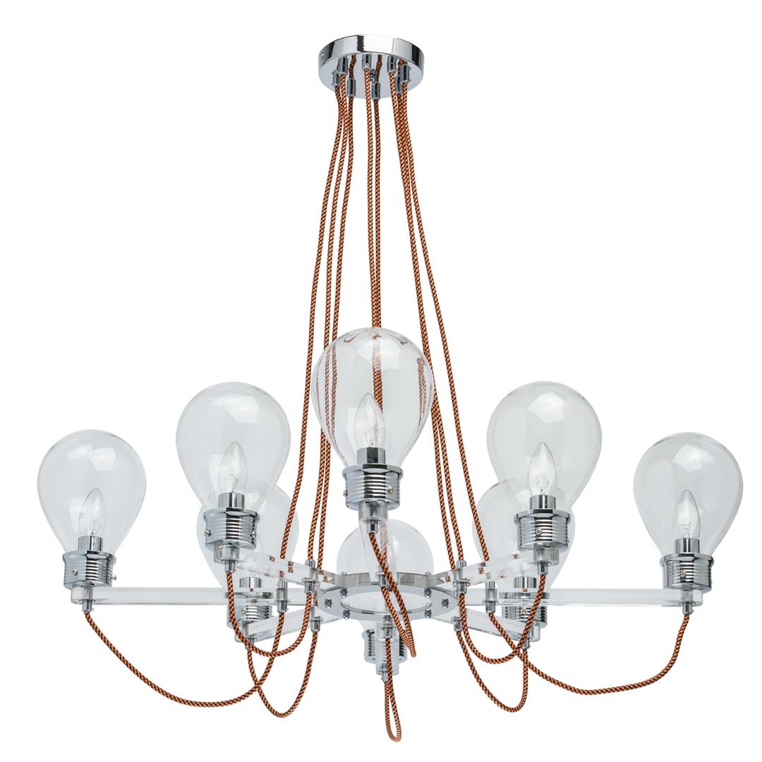 Lampa suspendată Hamburg Loft 8 Chrome - 699010408