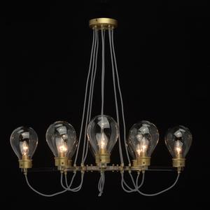 Lampa suspendată Hamburg Loft 8 Brass - 699010708 small 5