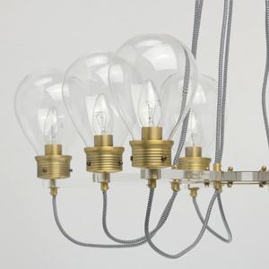 Lampa suspendată Hamburg Loft 8 Brass - 699010708 small 12