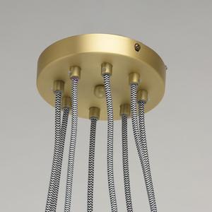 Lampa suspendată Hamburg Loft 8 Brass - 699010708 small 3