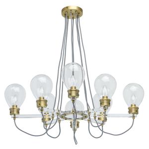 Lampa suspendată Hamburg Loft 8 Brass - 699010708 small 0