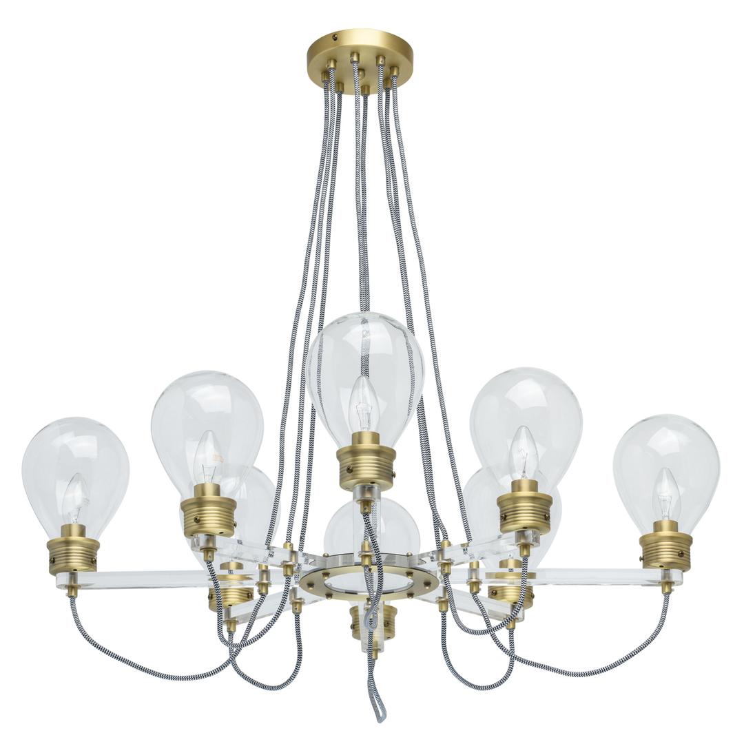 Lampa suspendată Hamburg Loft 8 Brass - 699010708