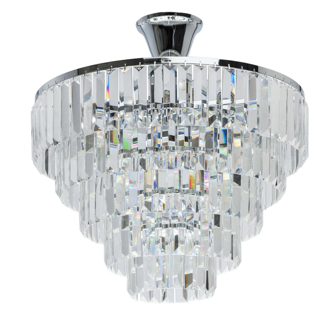 Lampă cu pandantiv Adelard Crystal 5 Chrome - 642010705