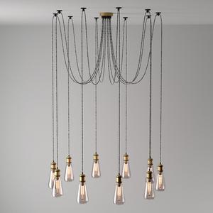 Lampa suspendată Fusion Megapolis 10 Brass - 392017310 small 1