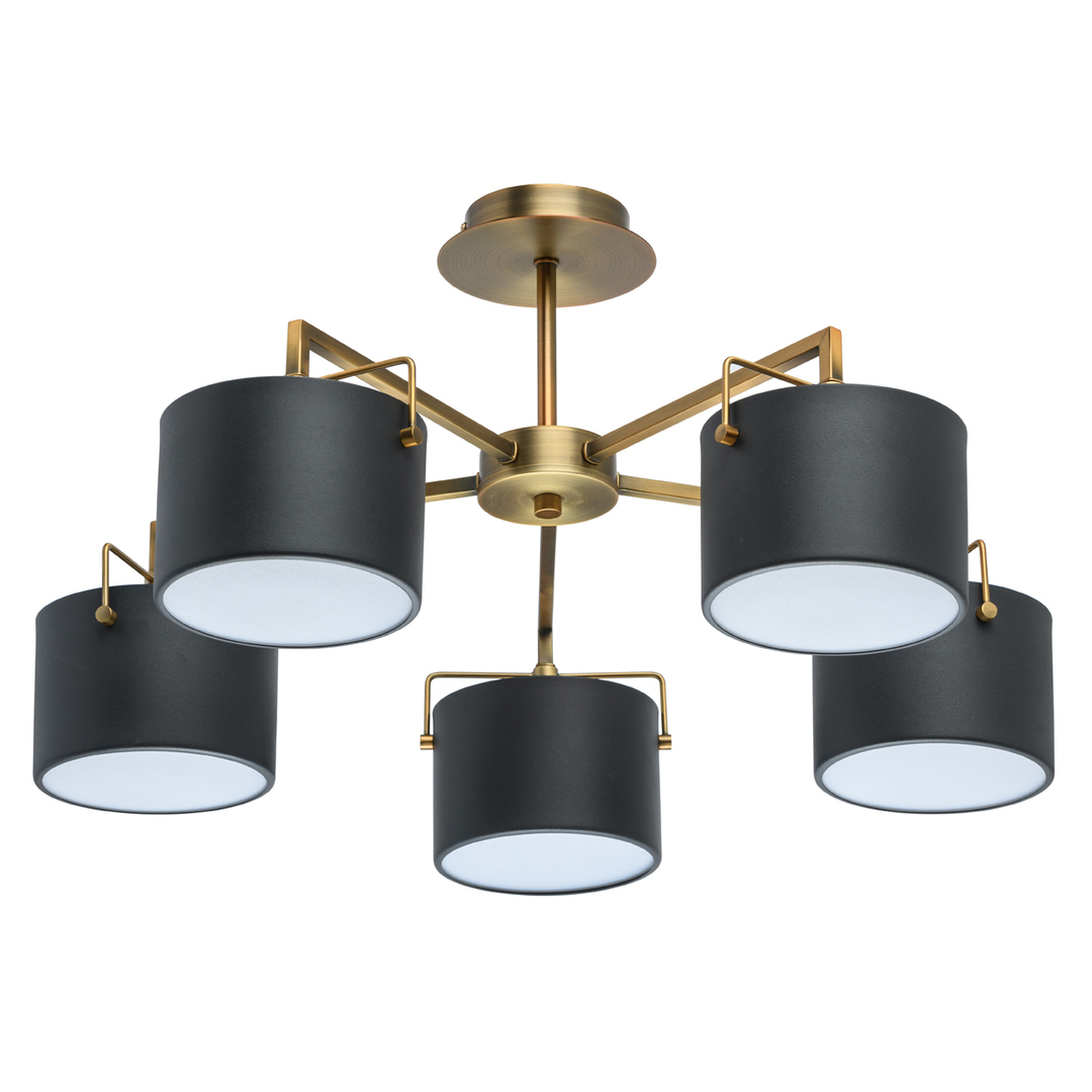 Lampă de tavan neagră Town Megapolis 5 alamă - 721010205