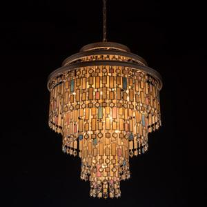 Lampa suspendată Maroc Țara 9 Bej - 185010809 small 1