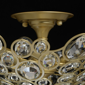 Plafonul Laura Crystal 6 Gold - 345012406 small 2