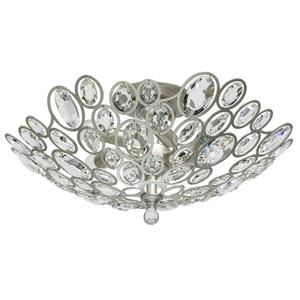 Lampa suspendată Laura Crystal 6 Silver - 345012506 small 0