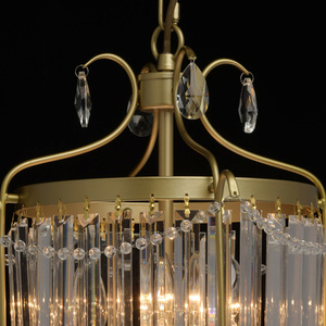 Lampa suspendată Adele Crystal 3 Gold - 373014403 small 12