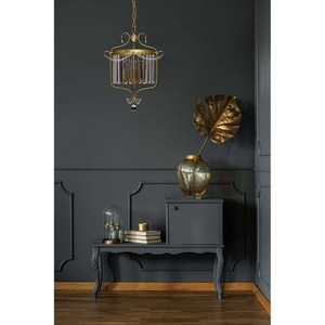 Lampa suspendată Adele Crystal 3 Gold - 373014403 small 4