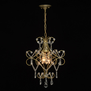 Lampa suspendată Adele Crystal 3 Gold - 373014503 small 1