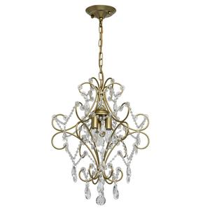 Lampa suspendată Adele Crystal 3 Gold - 373014503 small 0