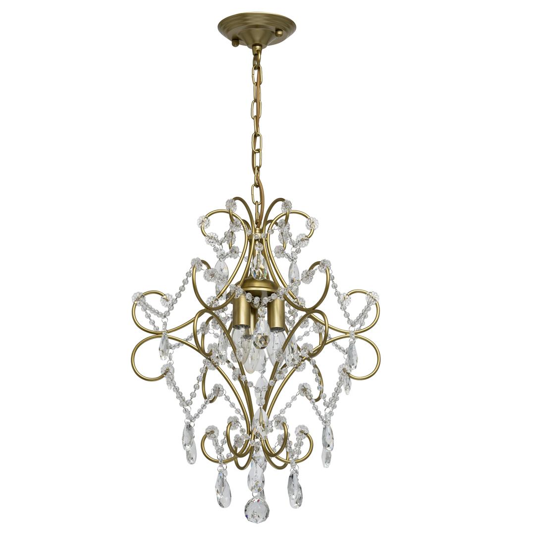 Lampa suspendată Adele Crystal 3 Gold - 373014503