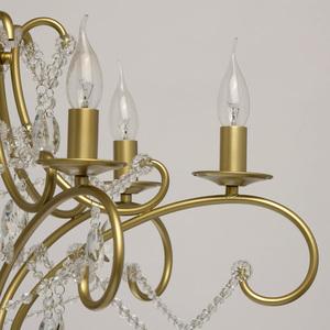 Lampa suspendată Adele Crystal 6 Gold - 373014606 small 8