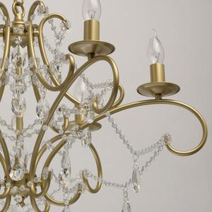Lampa suspendată Adele Crystal 6 Gold - 373014606 small 12
