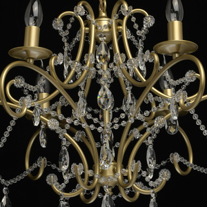 Lampa suspendată Adele Crystal 6 Gold - 373014606 small 13