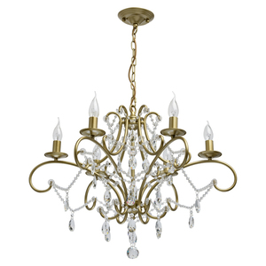 Lampa suspendată Adele Crystal 6 Gold - 373014606 small 0