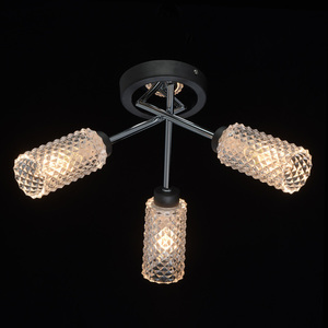 Lampă cu pandantiv Olympia Megapolis 3 Grey - 638013503 small 1