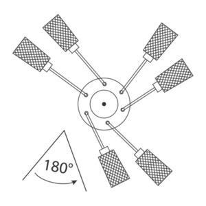 Lampă cu pandantiv Olympia Megapolis 3 Grey - 638013503 small 4