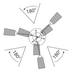 Lampă cu pandantiv Olympia Megapolis 3 Grey - 638013503 small 5